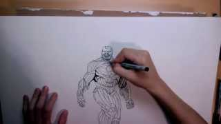 Iron-suit speed drawing (inking)