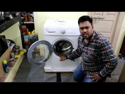 Midea 7 KG Fully Automatic Front Load Washing Machine Unboxing in Telugu