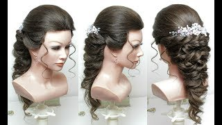 Beautiful Hairstyles with Puff : Easy Wedding Hairstyle.