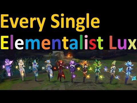 All 10 Elementalist Lux Forms in One Game - One for All Lux - YouTube