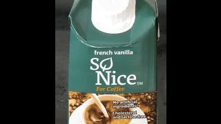 Product Review: So Nice French Vanilla Coffee Creamer (lactose Free, Vegan)