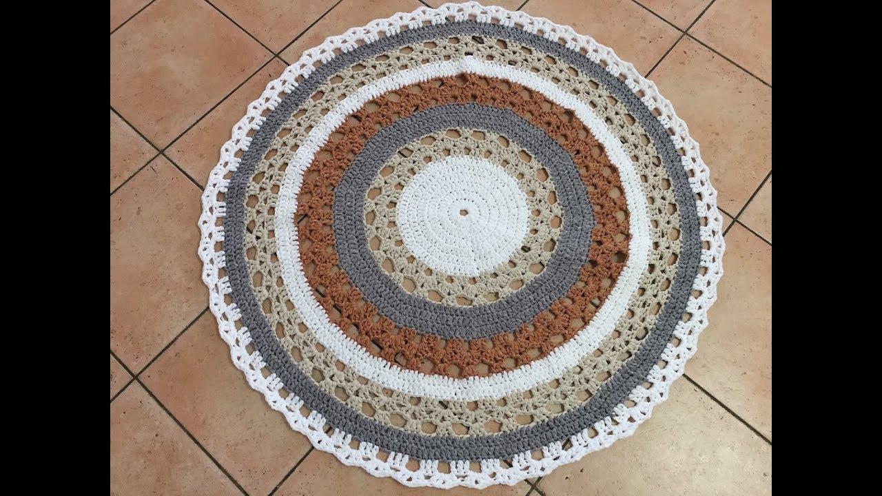 Tuto Tapis Mandala Au Crochet Youtube