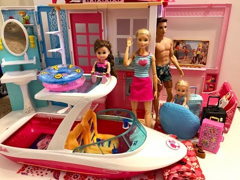 Barbie Vacation! Boat! BBQ!
