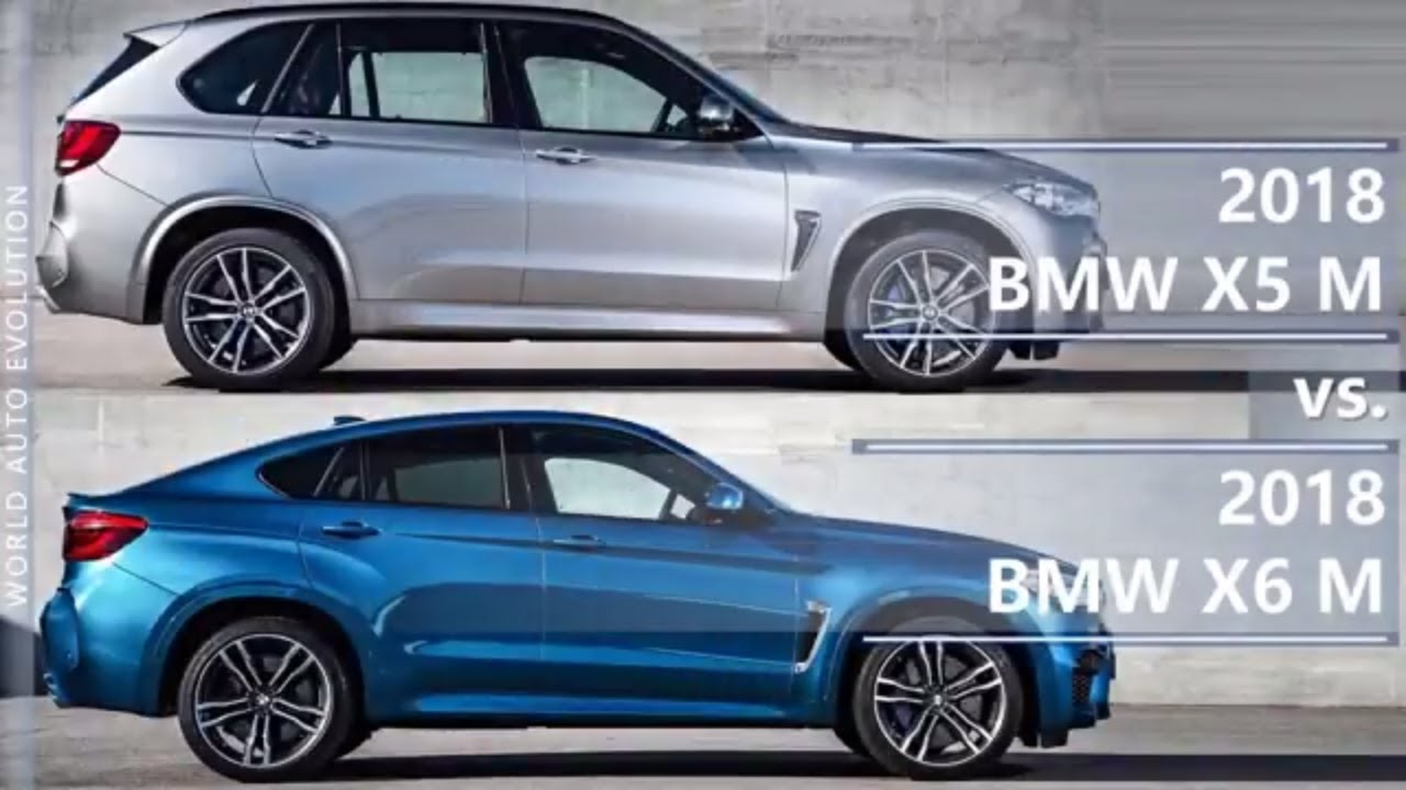 2018 Bmw X5 M Vs 2018 Bmw X6 M Technical Comparison Youtube