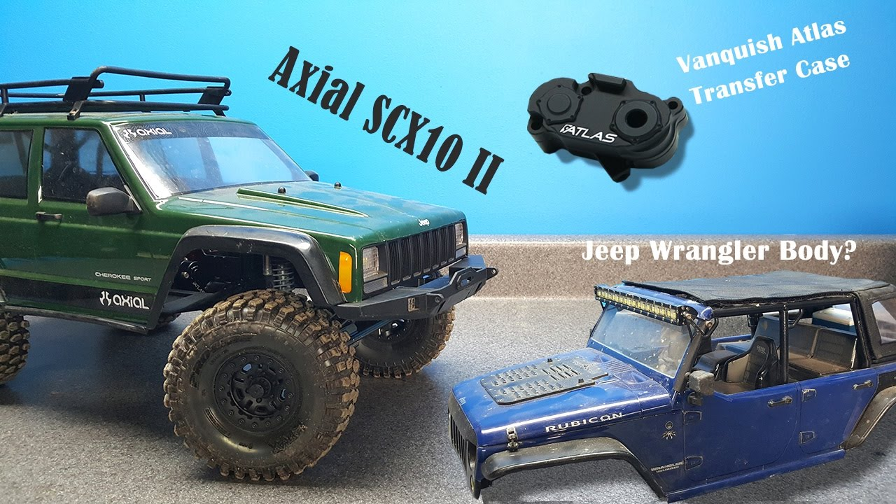 Axial SCX10 II - Vanquish Atlas Transfer Case & Mounting The Jeep Wrangler  Body