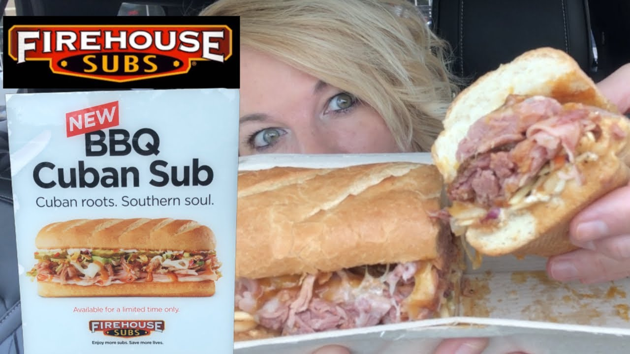 Firehouse Subs NEW BBQ Cuban Sub Review