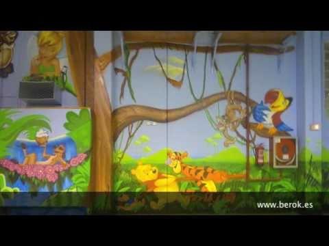 Murales infantiles pintados a mano para ni os y beb s - Murales de pared pintados a mano ...