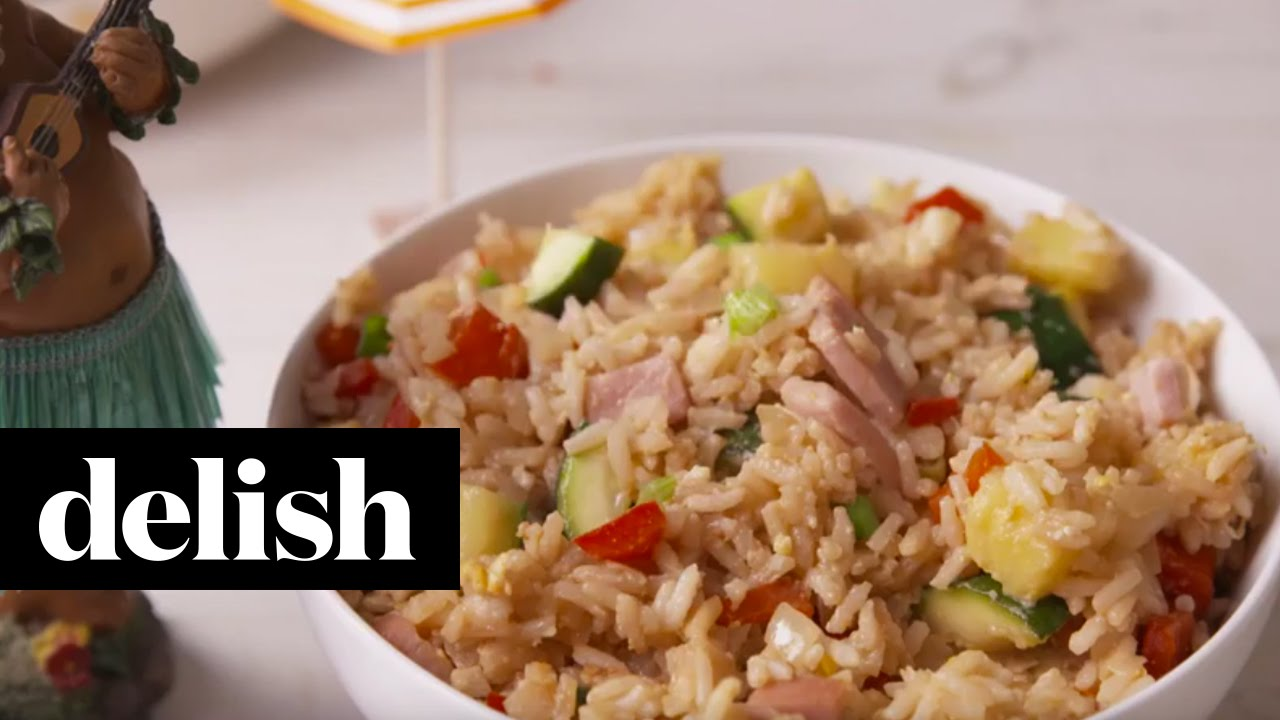 How to make hawaiian fried rice delish youtube ccuart Image collections