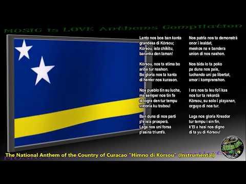 "Curacao National Anthem ""Himno di Kòrsou"" INSTRUMENTAL with lyrics"