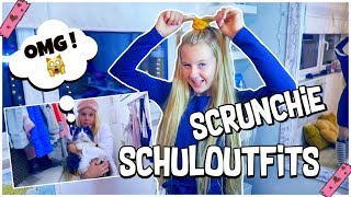 MEINE SCRUNCHIE SCHOOL OUTFITS OF THE WEEK ! Was ich in der Schule anhatte | MaVie Noelle Haul
