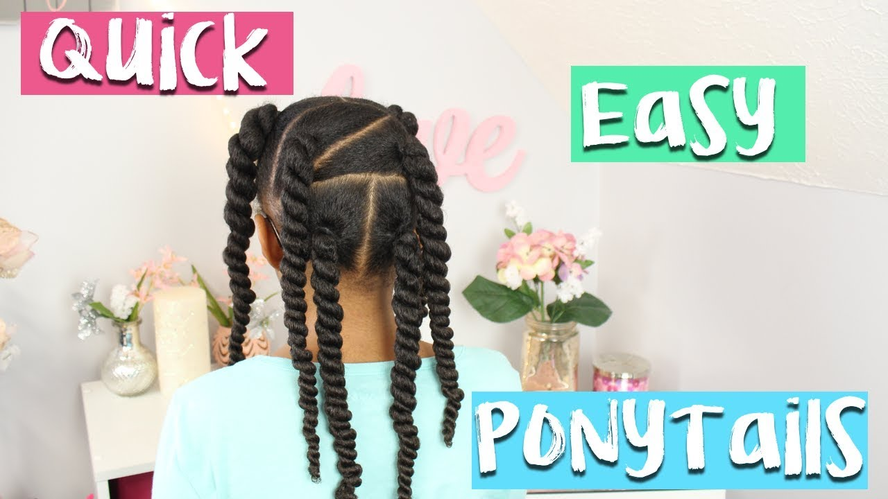 Lazy Day Ponytails 3 Quick Easy Little Girls Hairstyles