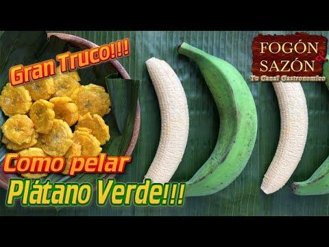 Como Pelar Plátano Verde / Como Pelar Plátano Macho