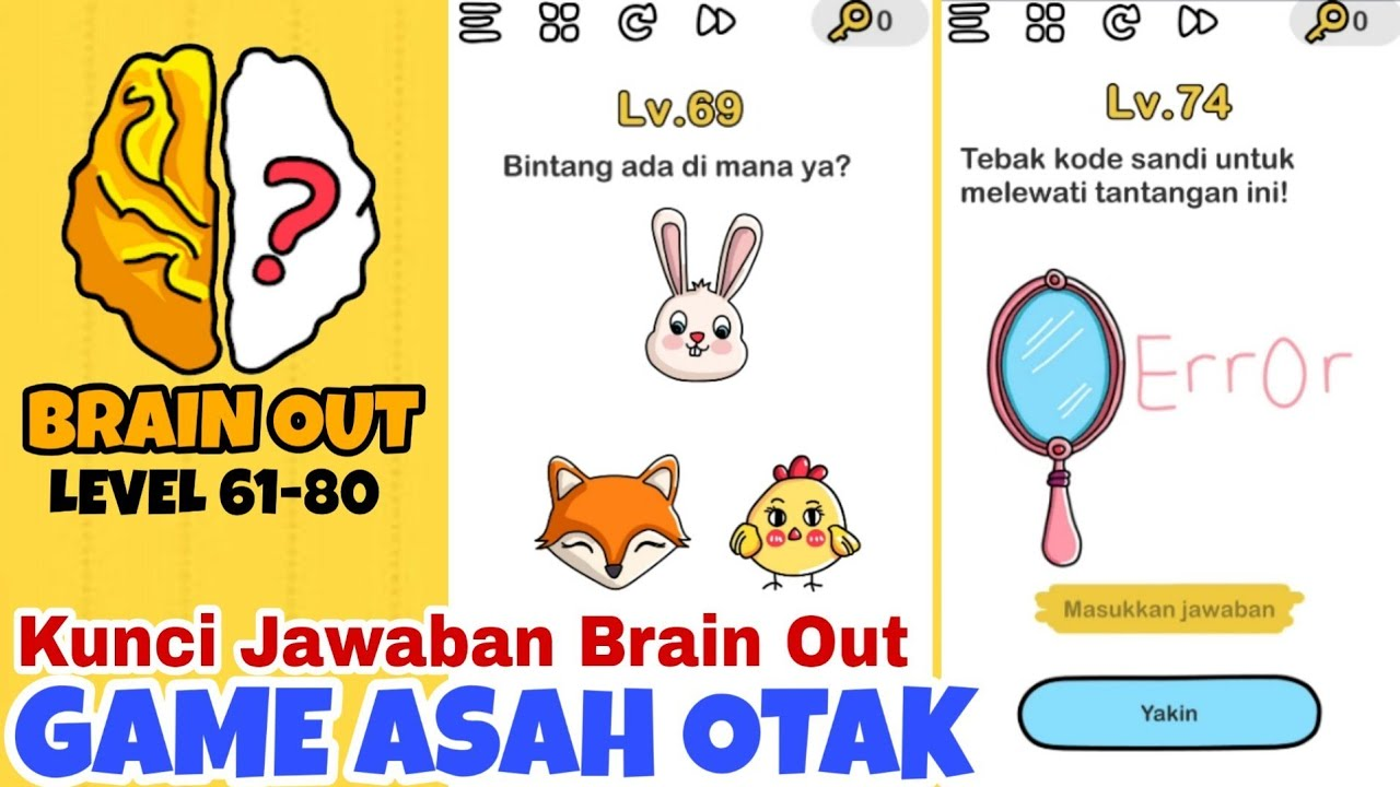 Brain Out Level 61 80 Walkthrough Solution Brain Out Indonesia Youtube