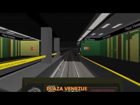 Metro de Caracas linea 1 Simulador Time Lapse, 50fps 720P