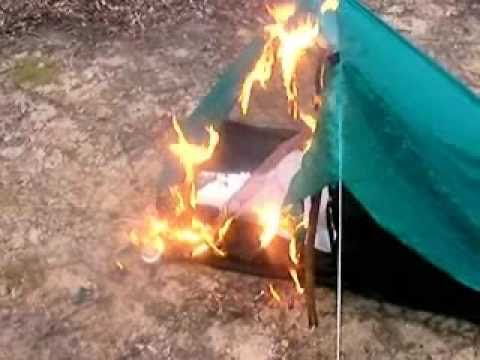 Ultralight Silnylon Tent on Fire & Ultralight Silnylon Tent on Fire - YouTube