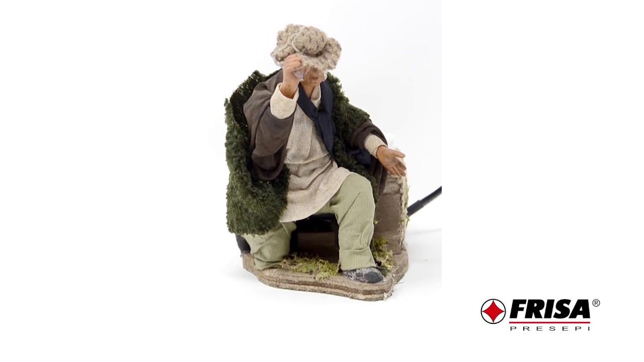 grande vendita carina anteprima di Uomo in ginocchio con cappello - Terracotta in movimento h 15 cm