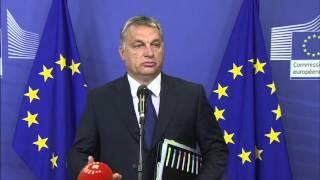 Orbán Viktor megnevettette a brüsszeli sajtót