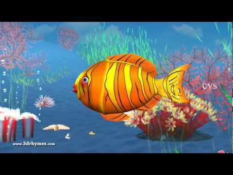 12345 Once i caught a fish a  3D Animation English Nursery rhyme for children