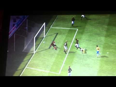 Neymar over-head kick! 100th goal in his career