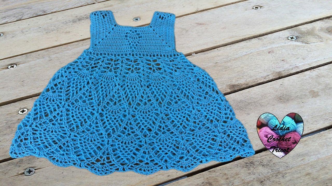 Robe Ananas Fille Crochet Partie 2/3 / Vestido Piñas