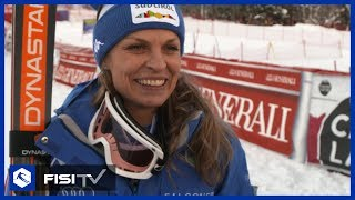 Intervista a Manuela Moelgg, ancora nel podio in gigante a Courchevel | FISI TV