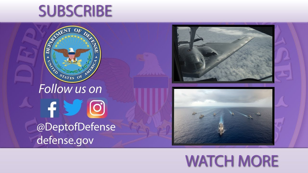 The U.S. Department of Defense YouTube channel brings you face to face with military operations around the globe, first-hand videos capturing service members in training, and key messages and speeches from defense leaders. Subscribe to our channel and unlock access to footage and Defense Department original productions.