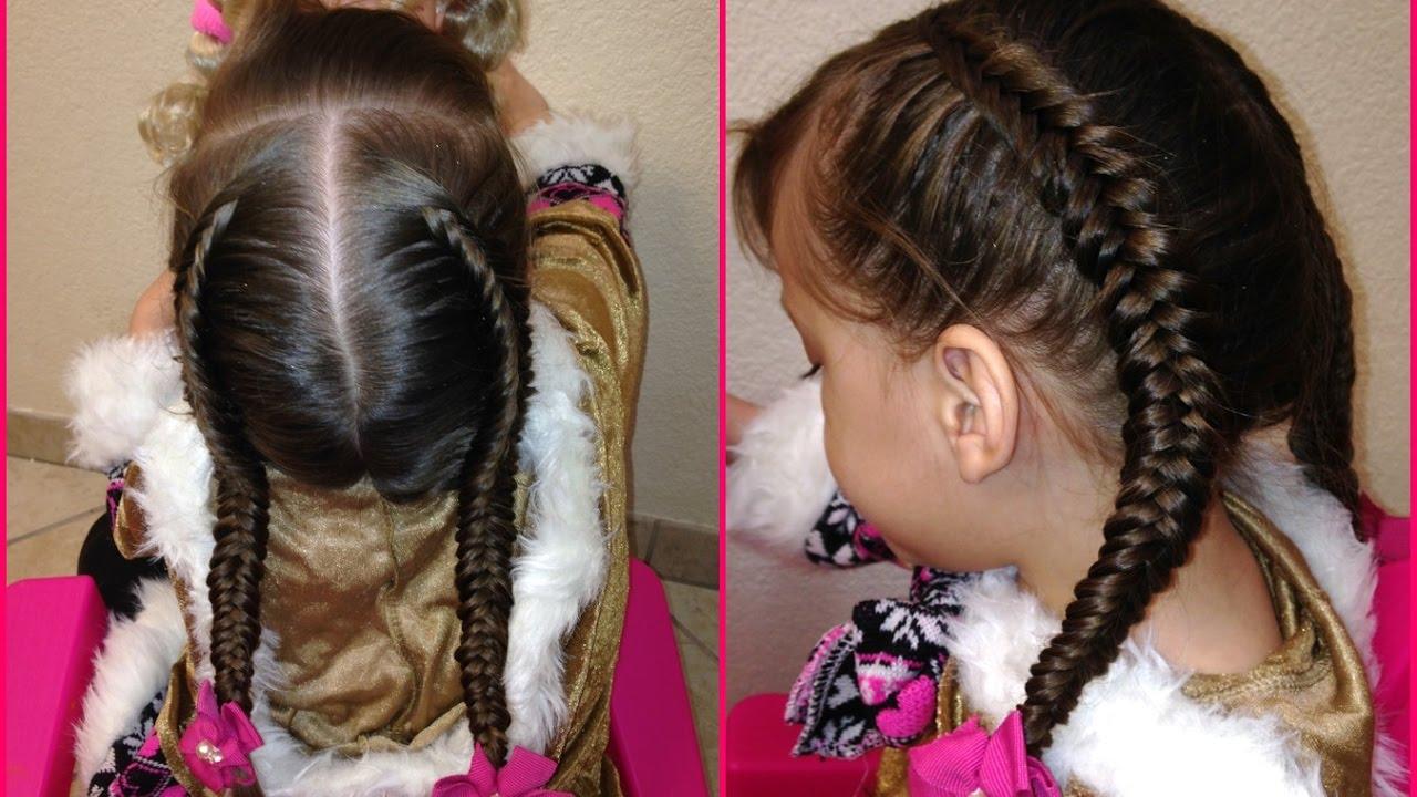 Peinados con trenza espiga para ninas