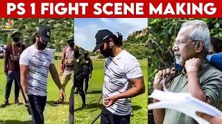 Ponniyin Selvan Set-ல் வாள் பயிற்சி எடுக்கும் Chiyaan Vikaram | Making | Maniratnam, Karthi, Trisha