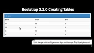 Creating tables with twitter Bootstrap 3