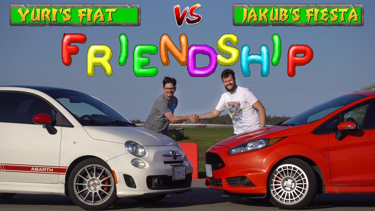 DRAG RACE! Fiat 500 Abarth vs Ford Fiesta ST