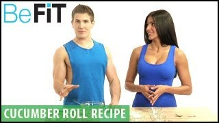 Low Calorie Snack Recipe: Cucumber Rolls- Scott Herman & Erica Stibich