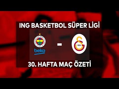 BSL 30. Hafta Özet   Fenerbahçe Beko 104-79 Galatasaray
