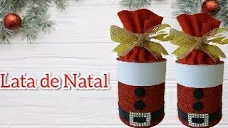 Decoração de Natal Baratinha – Lata de Natal