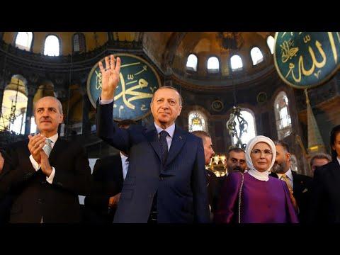 أردوغان يعتبر تحويل آيا صوفيا إلى مسجد ضمن -حقوق بلاده السيادية- ويرفض الإدانات الدولية  - نشر قبل 2 ساعة