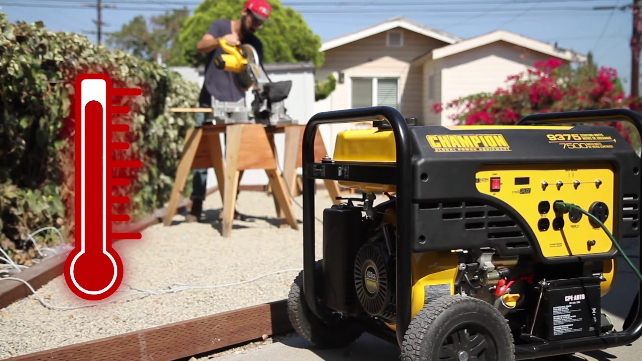 Champion Tip #62: Using a Portable Generator in Extreme Temperatures