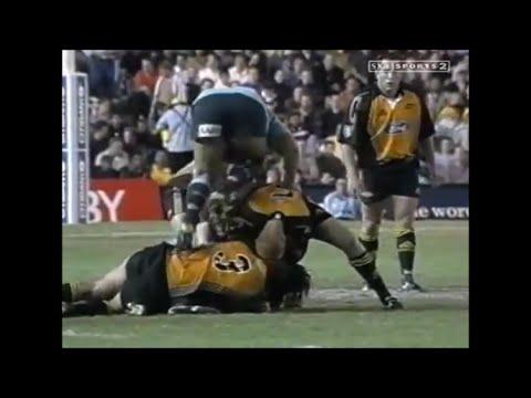 John Welborn goes stampabout on Gordon Slater's back