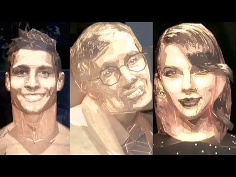 Chinese artist makes amazing paper craft of celebrities