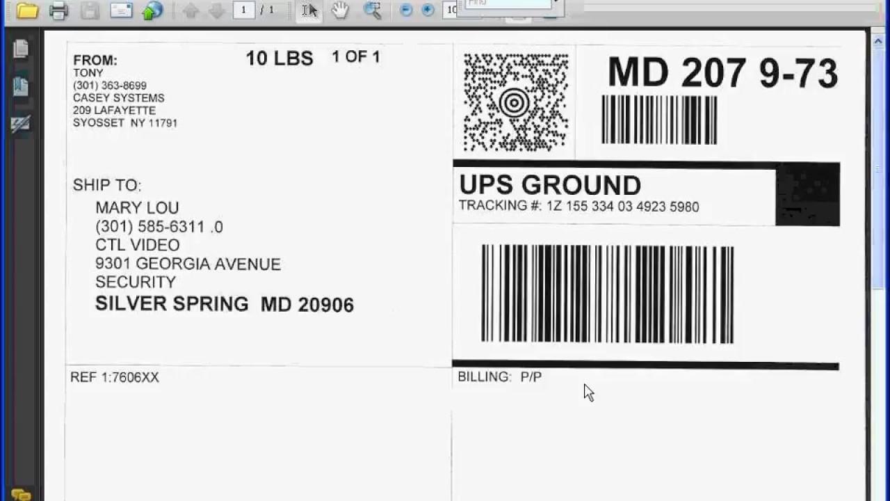 UPS World Ship