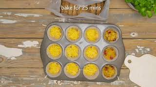 Weet-Bix Protein Ham & Chęese Muffins