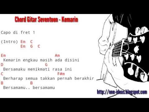 SEVENTEEN - KEMARIN ( Kunci Gitar/Chord Dan Lirik Lagu )