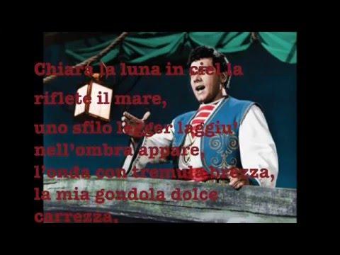 """Mario Lanza  """"Drigo's Serenade""""  with Lyrics"""