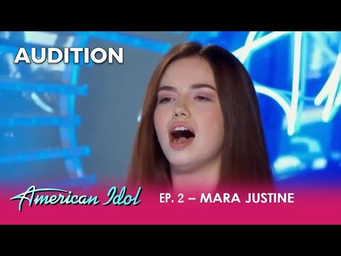Mara Justine: This Young Girl Has GOT TALENT! | American Idol 2018