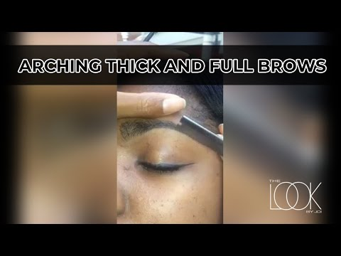 Arching thick and full eyebrows