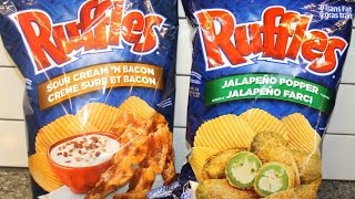 Canadian Ruffles: Sour Cream 'n Bacon & Jalapeno Popper Review – March 2015