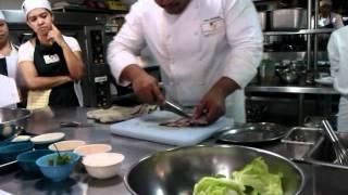 Thai Fried Tilapia In Chili Sauce -- Preparing The Fish