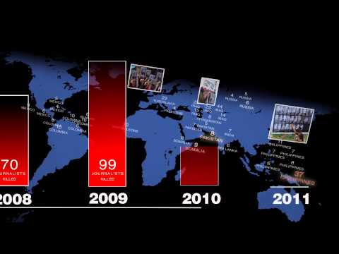 World Press Freedom Day 2013- Journalists killed animation