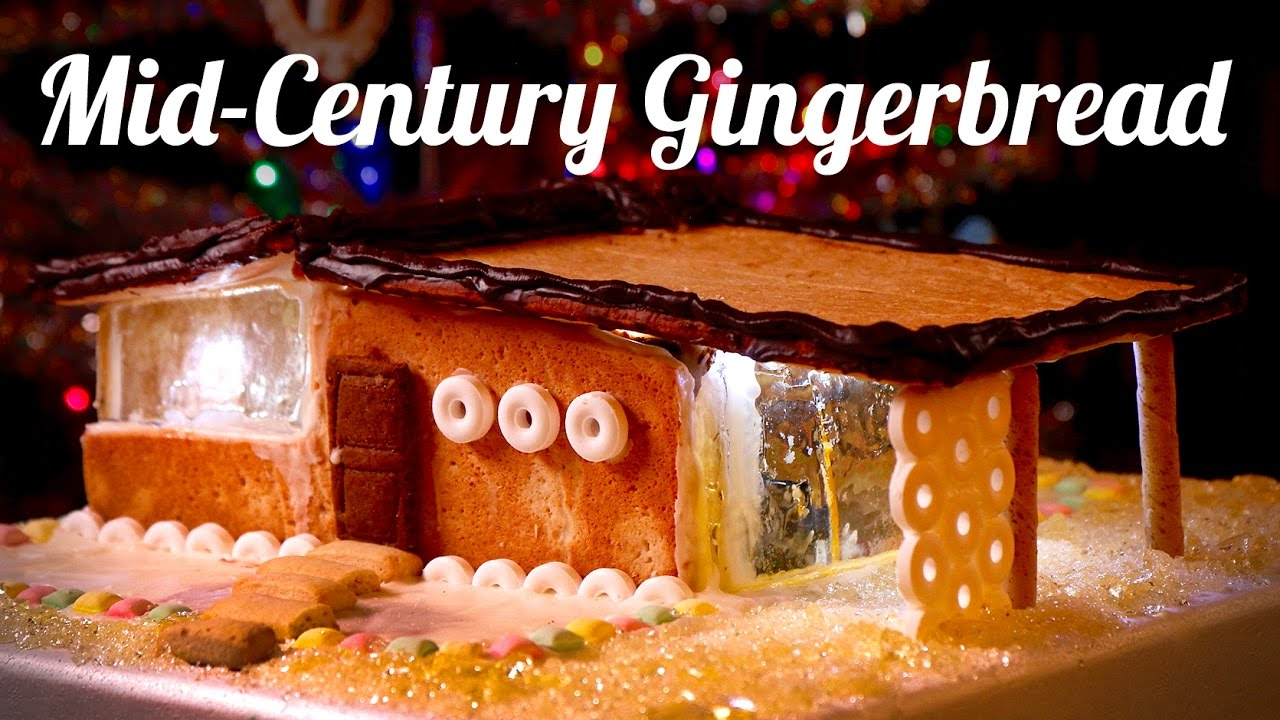 Mid Century Gingerbread House - How To - YouTube