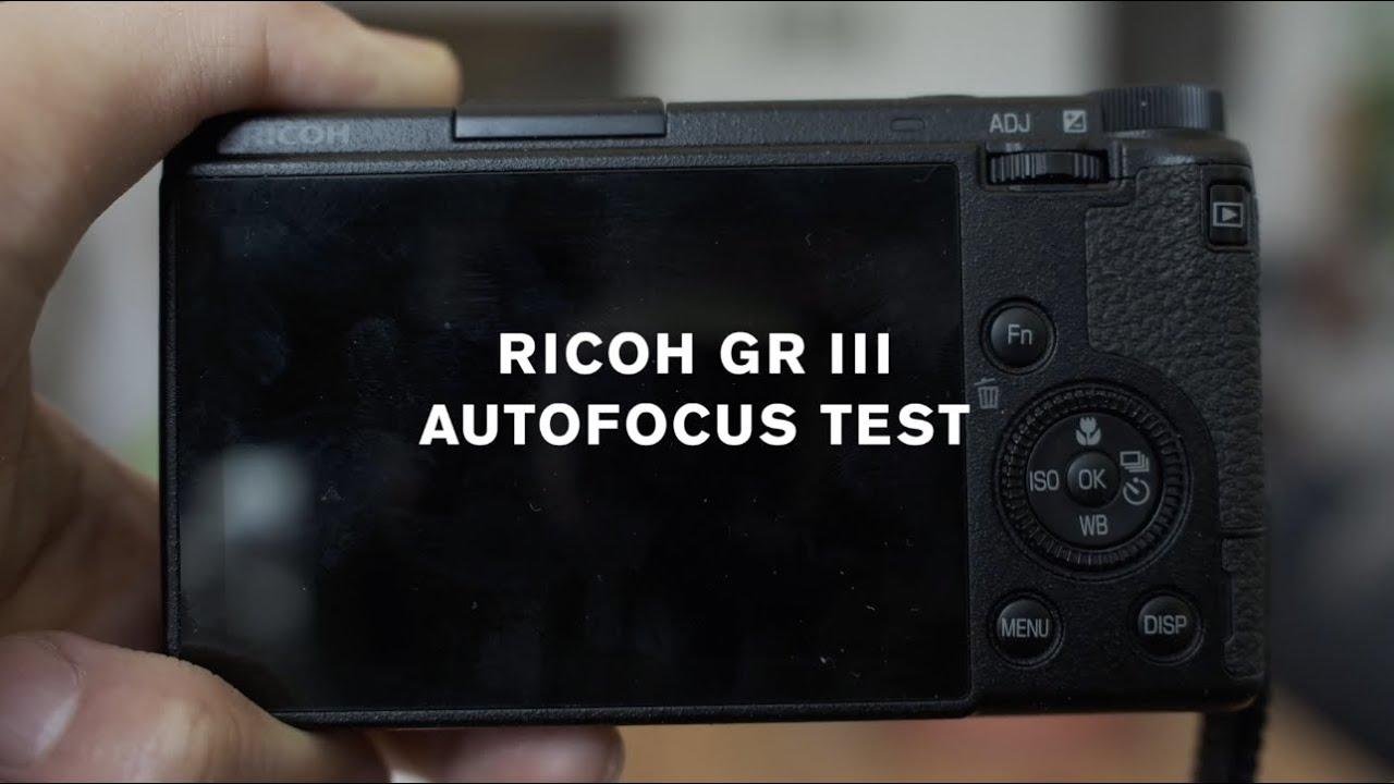 Download Ricoh GR III Autofocus Test