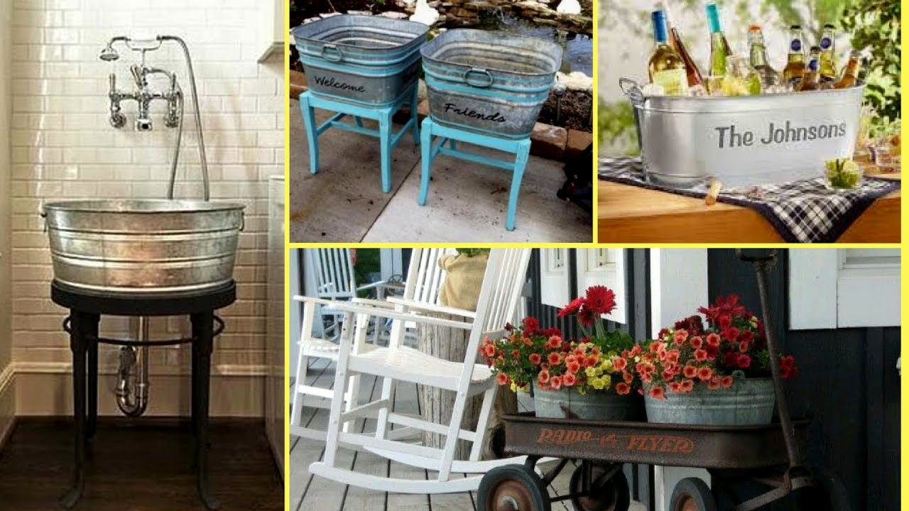 How To Re Purposereuse The Galvanized Tubbucket Ideas Home Decor