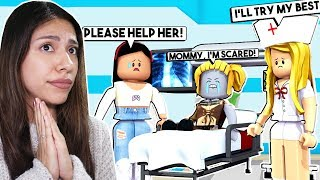 TAKING MY DAUGHTER TO THE HOSPITAL! *WILL SHE BE OKAY?* - Roblox - Adopt Me